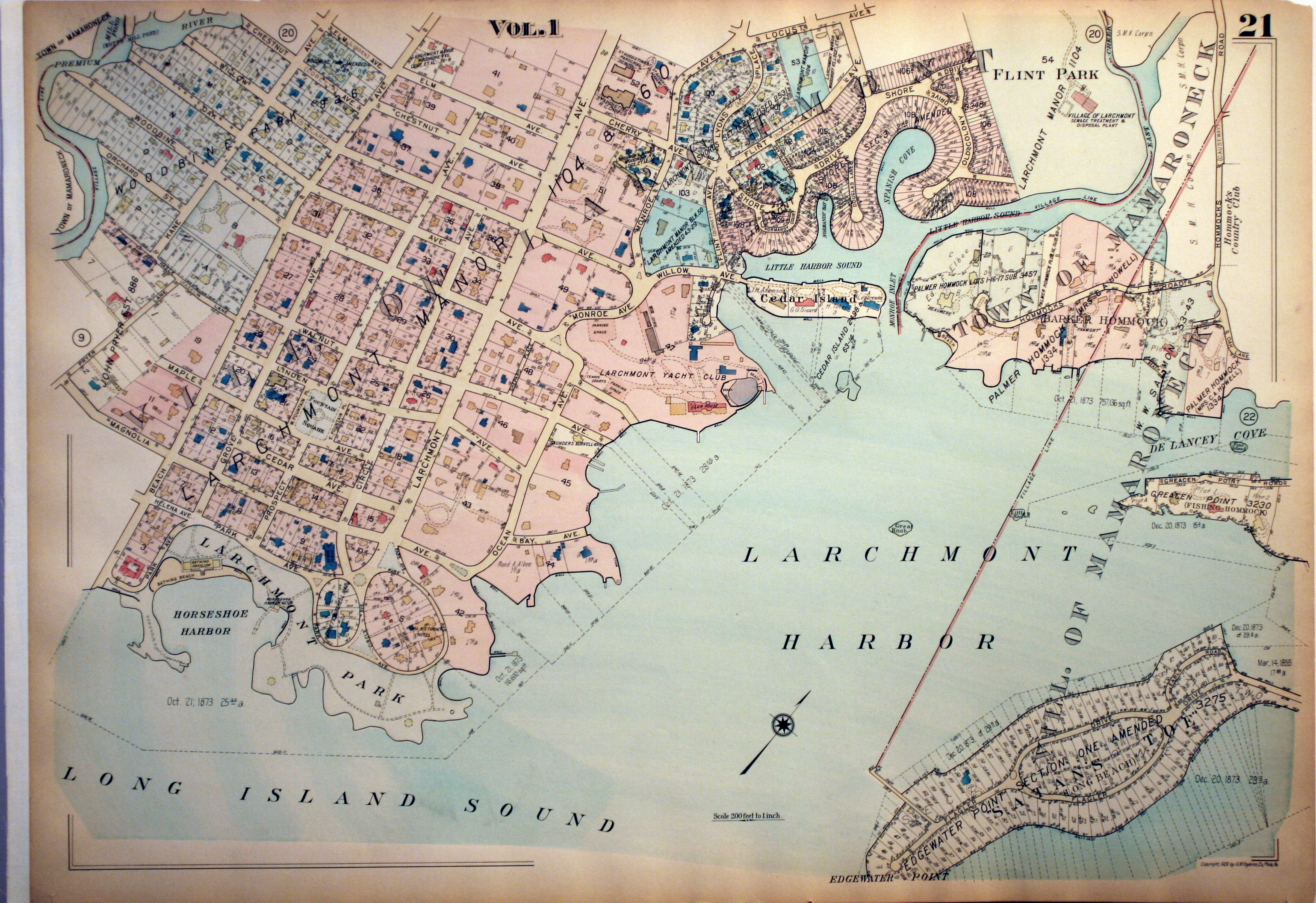 Map Of Wurope%0A       Larchmont Harbor  Village of Mamaroneck      SOLD