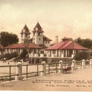 #1372 Restaurants, Shelter and Bathing Pavilion, Rye Park 1910