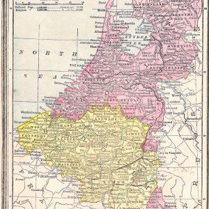 #1570 Holland & Belgium, 1889