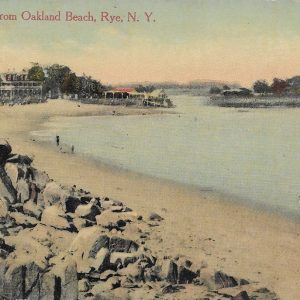 #1746 Looking up from Oakland Beach, Rye circa 1920
