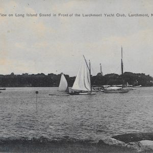 #2163 View on Long Island Sound in Front of the Larchmont Yacht Club, 1909