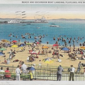 #2252 Beach and Excursion Boat Landing, Playland, Rye Beach 1939