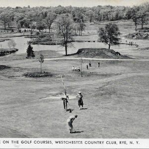 #2806 Scene on the Golf Courses, Westchester Country Club, Rye circa 1940