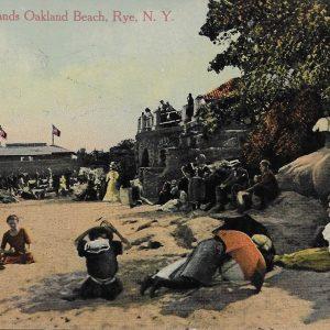 #2853 Along the Sands Oakland Beach, Rye 1913
