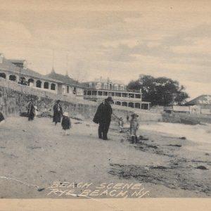 #2855 Beach Scene, Rye Beach circa 1910