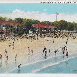 #2864 Beach and Pavilion, Oakland Beach, Rye 1935