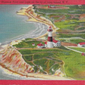 #2968 Montauk Point and Light, 1951