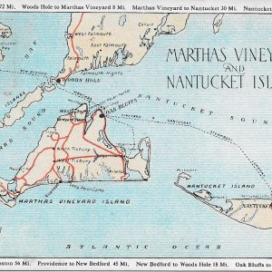 #3631 Martha's Vineyard & Nantucket Islands, 1934