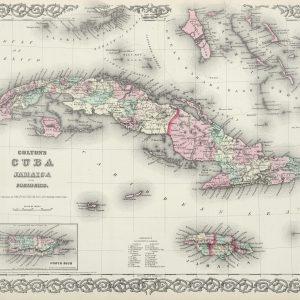 #3945 Cuba, Jamaica & Puerto Rico 1874