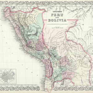 #3950 Peru & Bolivia, 1874