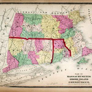 #709 Massachusetts, Rhode Island & Connecticut, 1870