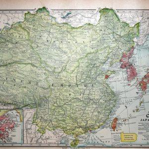 #935 China, Japan & Korea (inset of Hong Kong), 1899