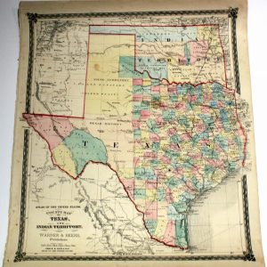 #3639 Texas and Indian Territory (Oklahoma), 1875
