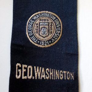 #2657 George Washington University tobacco silk, 1910