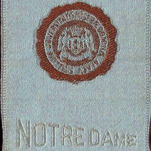 #4012 Notre Dame University tobacco silk, 1910