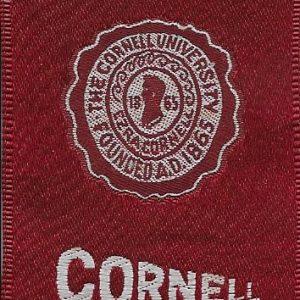#2671 Cornell University tobacco silk, 1910