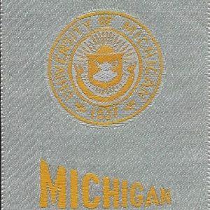 #2668 University of Michigan tobacco silk, 1910