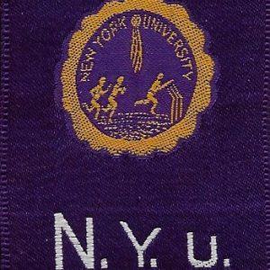 #3325 New York University tobacco silk, 1910