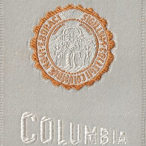 #2602 Columbia University tobacco silk, 1910