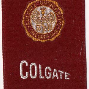 #3349 Colgate University tobacco silk, 1910