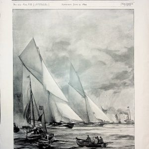 """#1072 """"Opening of the Yachting Season"""", 1894"""