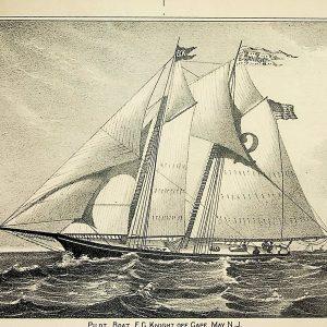 #4937 Pilot Boat E.C. Knight Off Cape May, NJ 1898