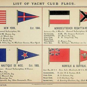 #5319 Yacht Flags (including New York Yacht Club), 1895/6