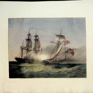 """#692 """"Sea Battle"""", early/mid 1800s"""