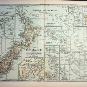 #4369 New Zealand & Islands of the Pacific Ocean, 1903