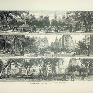 #4969 Washington, Madison & Union Squares (New York), 1874