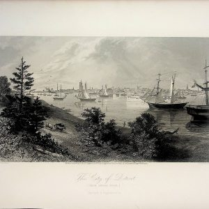 #4992 The City of Detroit (From Canada Shore), 1874
