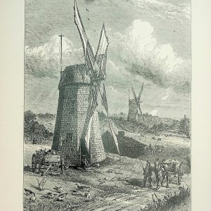#5178 Grist Windmills at East Hampton, 1874