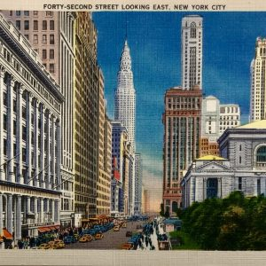 #5282 Forty-Second Street, looking East from Bryant Park ca1940s