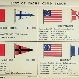 #5316 Yacht Club Flags, 1895/6 (includes Larchmont Yacht Club)