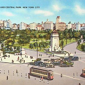 #3778 Columbus Circle & Central Park, 1930s